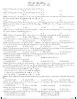 Kiểm tra trắc nghiệm chương 1-2 lớp 12 - hay