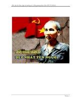 Tìm hiểu CVĐ Học tập tư tưởng tấm gương đạo đức Hồ Chí Minh