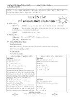 Giáo án tự chọn Bám sát toán 8