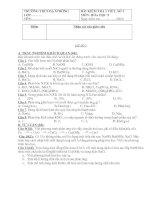 Đề 1 tiết (bài 2) - Năm học 010-011