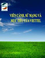 VIỄN CẢNH, SỨ MẠNG và MỤC TIÊU của VIETTEL