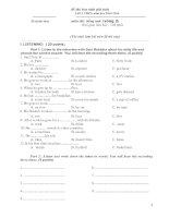 Đề HSG Anh văn 9 (có đáp án)- 5