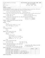Đề thi tin học 8 HK II