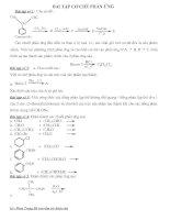 Bài tập về cơ chế phản ứng