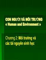 CON NGƯỜI VÀ MÔI TRƯỜNG « Human and Environment »