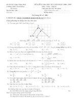 Đề thi học kỳ 1 lớp 10