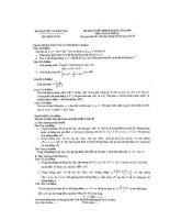 Đề thi và đáp án đại học môn toán khối D năm 2009