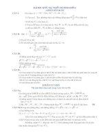 10 đề thi ĐH có lời giải