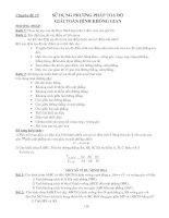 Chuyên đề Sử dụng phưong pháp tọa độ để giải hình học kkhông gian