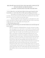 MỘT SỐ KIẾN NGHỊ VÀ GIẢI PHÁP NÂNG CAO CHẤT LƯỢNG CƠ CẤU TỔ CHỨC BỘ MÁY CÁN BỘ CỦA NGÀNH