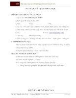 SKKN BIỆN PHÁP NÂNG  CAO CHẤT LƯỢNG SINH HOẠT TỔ CHUYÊN MÔN