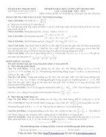 ĐỀ KIỂM TRA CHẤT LƯỢNG ÔN THI ĐẠI HỌC LẦN 1, NĂM HỌC 2012 - 2013 MÔN TOÁN, KHỐI A VÀ KHỐI A1 TRƯỜNG THPT HẬU LỘC 4