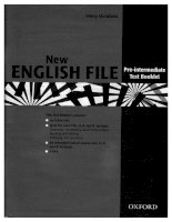English file pre intermediate NEW tests