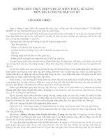 Hướng dẫn thực hiện Chuẩn kiến thức, kĩ năng Địa lý 8