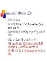 H6 Khi nào AM + MB = AB