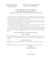 Quyết định thành lập ban chỉ đạo các cuộc vận động