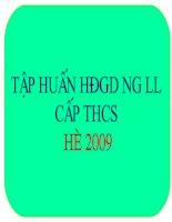 Bài giảng tập huấn HDGD NGLL hè 2009