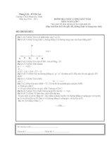 Đề kiểm tra chất lượng đầu năm toán 7