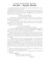 Bàn về 2 câu kết  bài Thu điếu của Nguyễn Khuyến