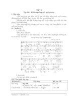 GIAÓ ÁN ÂM NHẠC LỚP 9: TIẾT 1 Học hát:  Bài Bóng dáng một ngôi trường
