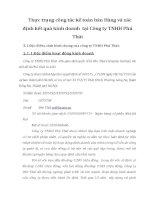 Thực trạng công tác kế toán bán Hàng và xác định kết quả kinh doanh  tại Công ty TNHH Phú Thái