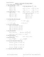 Bài tập đại số 11