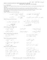 Phương trình - Bất phương trình mũ&loga