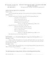 giải chi tiết đề thi môn văn  khối c 2008