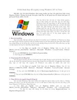 10 thủ thuật thay đổi registry trong Windows XP và Vista