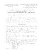 Báo cáo CĐ 08-09 và PH 09-10