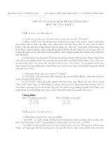 Đáp án và thang điểm đề thi chính thức môn thi: Văn, khối C năm 2002