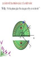 Lập trình mô phỏng vẽ tia phân giác