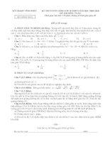 Đề- Đáp án TSTHPT Vĩnh Phúc 09-10