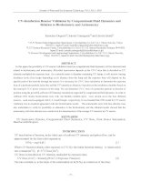 UV-disinfection Reactor Validation by Computational Fluid Dynamics and Relation to Biodosimetry and Actinometry