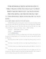 TÌNH HÌNH HOẠT ĐỘNG KINH DOANH VÀ THỰC TRẠNG CÔNG TÁC ĐÀO TẠO VÀ PHÁT TRIỂN NGUỒN NHÂN LỰC TẠI NGÂN HÀNG PHƯƠNG ĐÔNG CHI NHÁNH TRUNG VIỆT