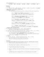 Bài tập ngữ pháp Tiếng Anh 11
