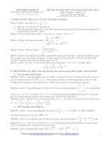 ĐỀ THI THỬ ĐẠI HỌC LẦN THỨ NHẤT 2013 TRƯỜNG THPT PHAN ĐĂNG LƯU Môn TOÁN ; Khối A, B