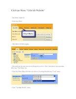 Cách tạo Menu Liên kết Website
