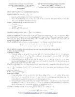 ĐỀ THI TUYỂN SINH ĐẠI HỌC NĂM 2013 Môn TOÁN; Khối A và khối A1 TRƯỜNG THPT CHUYÊN LÝ TỰ TRỌNG