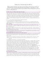 Những lưu ý khi làm dạng bài điền từ