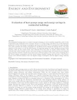 Evaluation of heat pumps usage and energy savings in residential buildings
