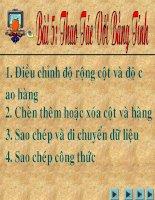 thao tac voi bang tinh