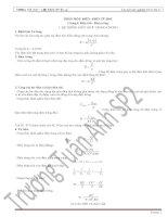 Tuyển chọn đề thi trắc nghiệm Vật lý 11 (hay)