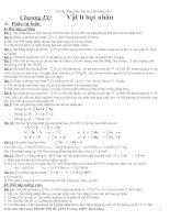 Vật lý hạt nhân(tự luận +trắc nghiệm)