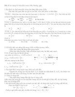 Một số bài toán về điện xoay chiều.