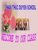 ENGLISH 7- UNIT 6 LANGUAGE FOCUS