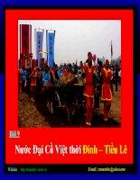 Bài 9 tiết 12 Nước Đại Cồ Việt thời Đinh - Tiền Lê
