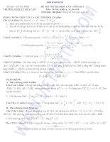 ĐỀ THI THỬ ĐẠI HỌC LẦN I NĂM 2013 TRƯỜNG THPT CÙ HUY CẬN MônTOÁN, Khối A, A1, B và D