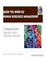Chapter 5 QUẢN TRỊ NHÂN SỰ HUMAN RESOURCE MANAGEMENT