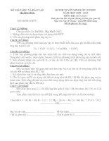 Đề thi vào lớp 10 THPT tỉnh Hải Dương 2009- Có đáp án